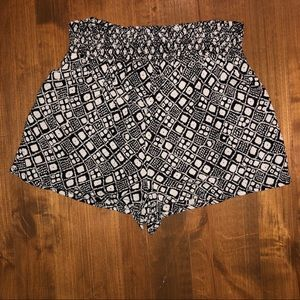 Flowy patterned shorts!